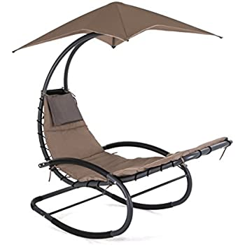 Amazon Com Smonter Patio Rocking Wave Lounger Chair