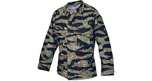 Tru-Spec BDU Coat Cotton Tiger Stripe Green XXL-Long 1590027 ()