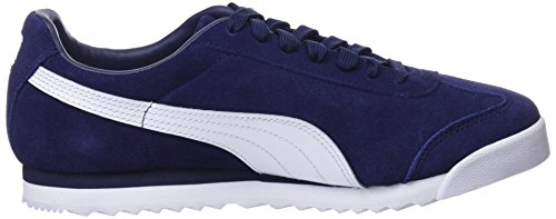 Gold Bleu Suede puma Adulte Sneakers White Roma Basses puma Puma Team amazon Mixte Green Peacoat p7H7qY