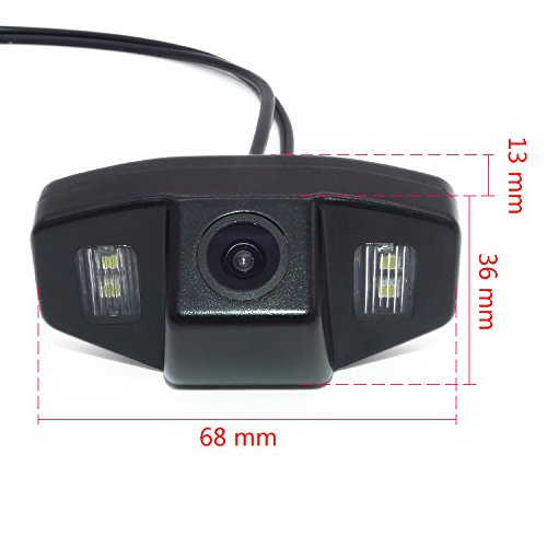for honda Jazz Accord Civic EK Odyssey Pilot Civic FD NTSC Misayaee Rear View Back Up Reverse Parking Camera in License Plate Lighting Night Version