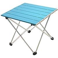 Mesa Plegable Plegable de Aluminio portátil Ligero Camping al Aire Libre Picnic Muebles Simples Mesa de Camping Mesa de té - Lago Azul