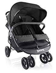 The Joovy ScooterX2 double stroller has a new stylish graphite grey frame and bigger wheels. The larger 7-inch front wheels and 9.5-inch rear wheels make it easier to maneuver than before. Its lightweight and narrow design allows the stroller...
