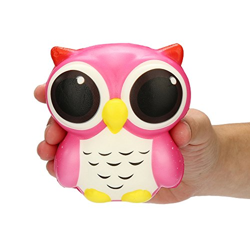 Birdfly Lovely Avocado Discoloring Puppy and Hedgehog Squeeze Slow Rising Scented Squishy Toy (Owl)