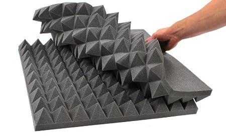 FORTIS P084 Mousse acoustique en forme de pyramide non inflammable 45/x 45/x 6/cm