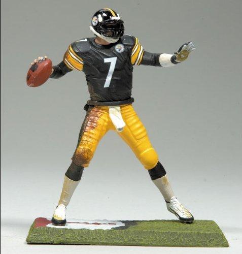 McFarlane Toys NFL 3 Inch Sports Picks Series 7 Mini Action Figure Ben Roethlisberger (Pittsburgh Steelers) (Mini Figures Mcfarlane)