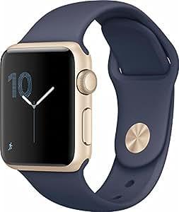 Apple Watch Series 2 38mm Smartwatch (Gold Aluminum Case, Midnight Blue Sport Band)(Certified Refurbished)