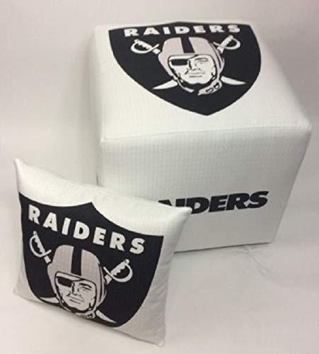Nfl Novelty Pillow - Oakland Raiders Ottoman- w/FREE Pillow