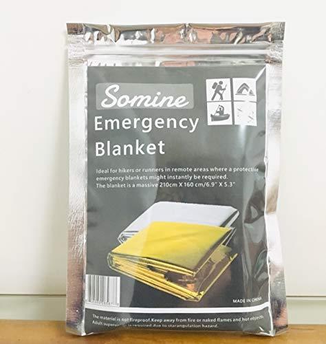 Somine Mantas de Emergencia(Paquete de 5) Tamaño Grande:210 X160cm, diseñado con hasta un 90% de retención de Calor 10