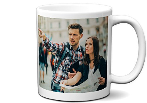 Personalized White 11 Ounce Coffee Mug | Add any Image, Photo, Picture, Sports Team to This Custom ()