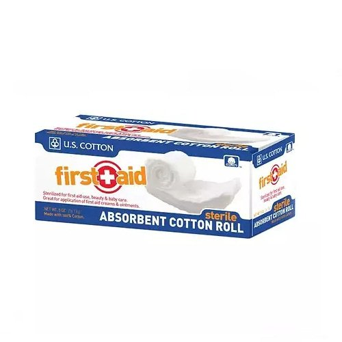 First Aid Sterile Absorbent Cotton Roll, .5 oz - 2pc