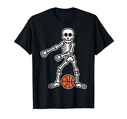 Flossing Skeleton Basketball Player Halloween Costume Shirt