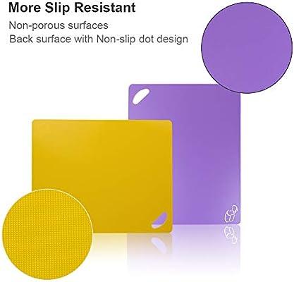 Amazon.com: Flexible Cutting Board, Chopping Mat Color Coded ...