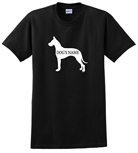 Custom Dog Gifts Personalized Great Dane Gifts Add Dog's Name Custom T-Shirt Small Black