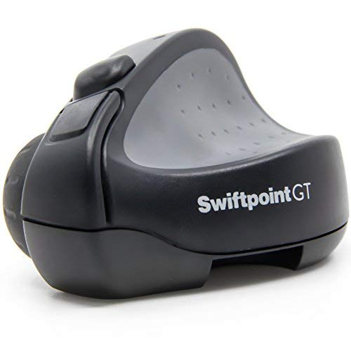Swiftpoint GT Wireless Ergonomic Remote Desktop iPad Travel Mouse with  Bluetooth, Quick Recharge, 1250 DPI