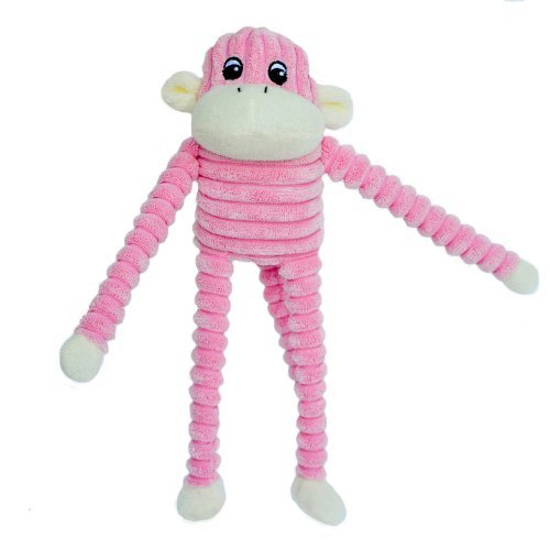 zippypaws-spencer-the-crinkle-monkey-small-pink-by-zippypaws