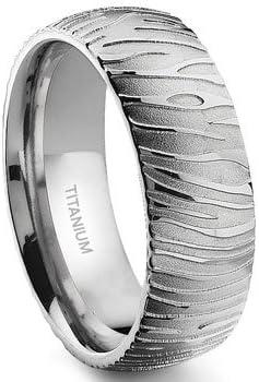 7 Max 89% OFF Degree TIGER Max 57% OFF Skin Band Titanium Ring