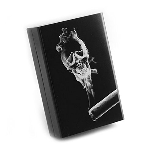 Personalized Ultra Thin Automatic Cigarette Case Smoking Soul Black Box (Old Cigarette Holders)
