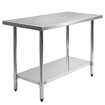 Amazoncom Giantex X Stainless Steel Commercial Kitchen Work - Stainless steel work table 30 x 48