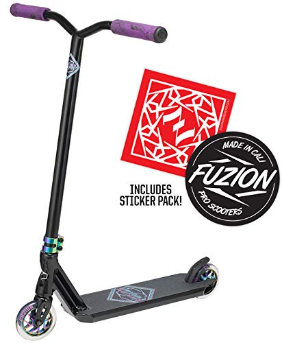 Fuzion Z300 Pro Scooter Complete Trick Scooter -Stunt Scooters for Kids 8 Years and Up, Teens and Adults - Durable, Freestyle Kick Scooter for Boys and Girls (2020 - Black/Neochrome)