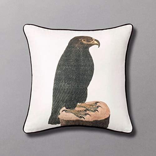 "JOHN DERIAN Threshold 18""X18"" Fearsome Flyer Hawk Throw Pillow"