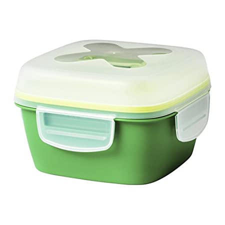Ikea blandning Ensalada de/Lunch Box, verde 17 x 17 x 11 cm ...