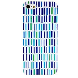 JOE Rectangle Stripe Pattern TPU Soft Case for iPhone 4/4S , Multicolor