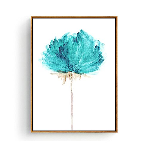 Hepix canvas wall art abstract blue watercolor flowers for Third party wall notice