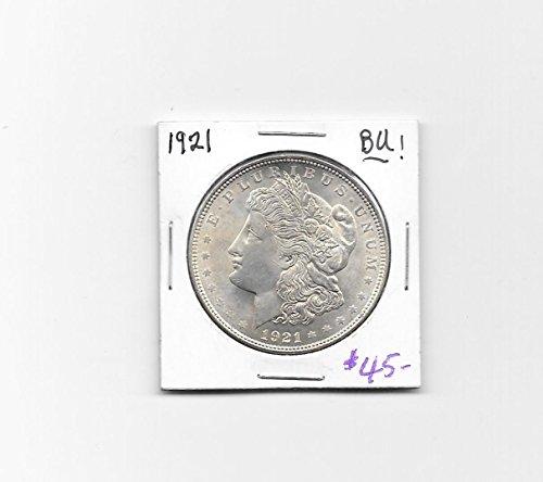 1921 -P MORGAN SILVER DOLLAR--- BU---Sharp--- VERN\u0026#39;S CARD \u0026amp; COIN ...