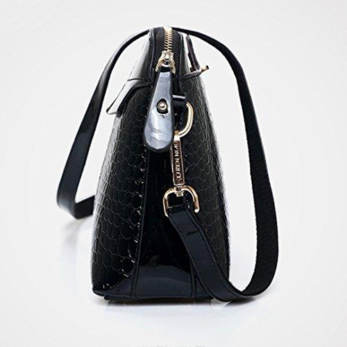 Millya Shell Messenger Women Crossbody Alligator Black Bag Chain Pattern Fashion shaped PU Leather Shoulder Bags Bag Handbag Strap rOrCqHZ