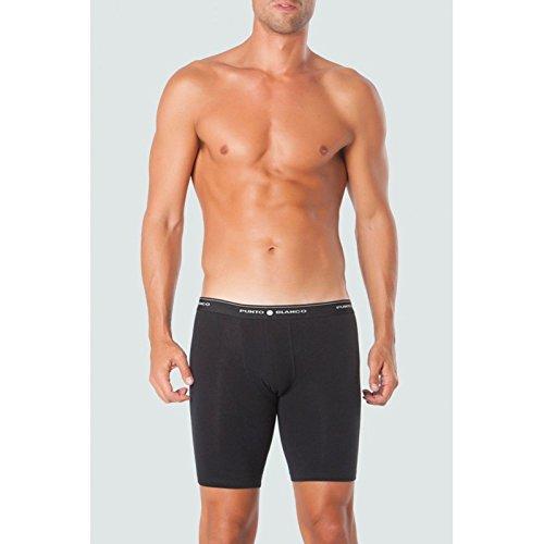 (Punto Blanco - Mens Bike Boxer Trunks Punto Blanco Cycling Underwear Sport - NEGRO, 48/M)