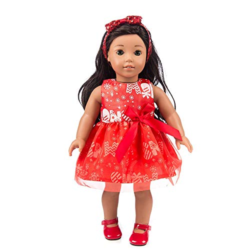 lothes Sleeveless Dress Lady Style for 18 Inch American Boy Doll Accessory Girl Toy ()
