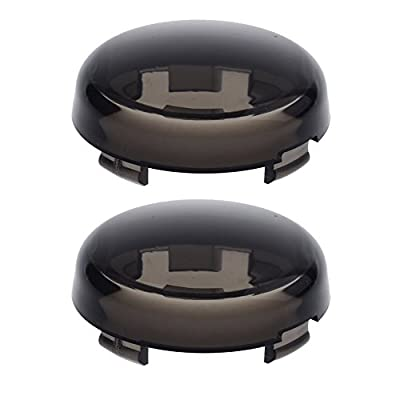 NTHREEAUTO Turn Signal Lights Lens Cover Compatible with Harley Dyna Fatboy Softail Road Glide: Automotive