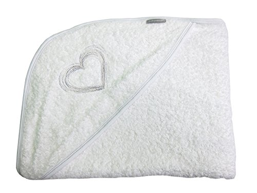 Baby Sense Extra-Large Hooded Apron Toddler Bath Towel | Soft & Soothing 100% Absorbent Cotton | Perfect Size for Boys or Girls | Premium Baby Shower Gift (Natural White)