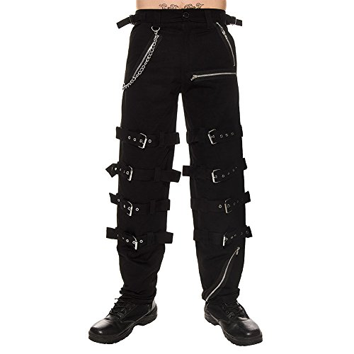 Dead Threads Mens Buckles & Chain Trousers - X-Large, Black