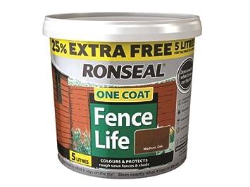 Ronseal RSLFLTBO4LAV - Pintura para vallas de una sola capa, color roble negro: Amazon.es: Bricolaje y herramientas