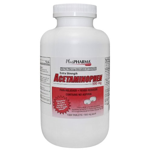 (PlusPharma Acetaminophen 500mg Tablets (Compare to Tylenol Extra Strength) 1000ct)