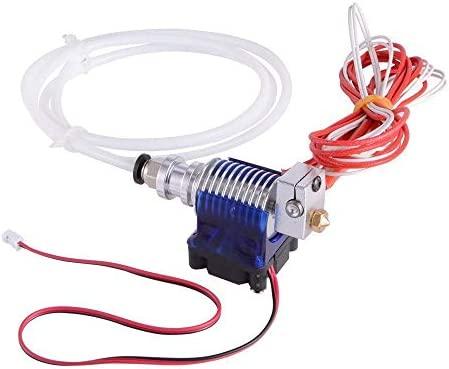 JHead V6 Hotend Sets,Kit Completo con 5 Extrusores de Cabeza de Lat/ón 5 Boquillas de Tefl/ón para Impresora 3D 1.75mm Extrusora Filamento