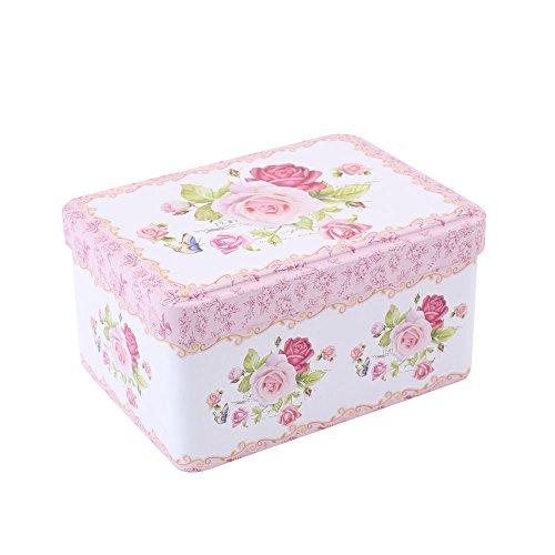 Small Gift Tin - Kicode Graffiti Retro Tinplate Jewelry Tea Candy Gift Box Storage Jars With Lid Tea Coffee Candy