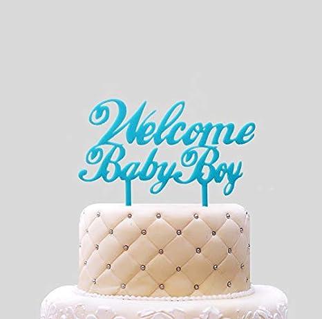 Amazon.com: Adorno para tartas de bienvenida para bebés ...