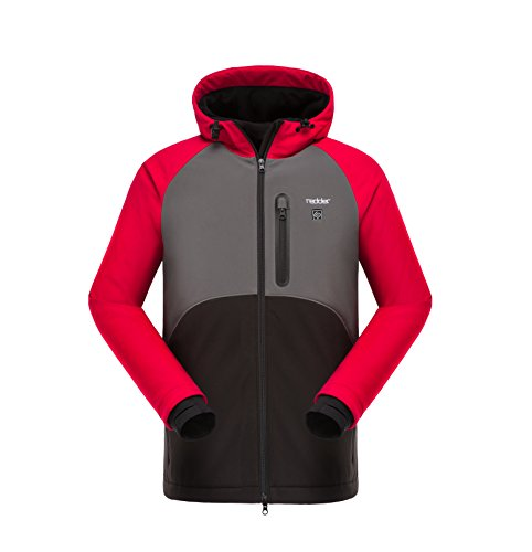 Redder Heated Jacket Heating Coat for Women, Safe Chargable, Resist Cold Rain and Wind Keep Warm for Outdoor Sports Skiing Climbing Ridding and Work, Waterproof Full Zip Hooded -Battery not Included (Heated Jacket)