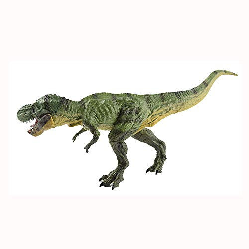 (CMrtew ❤️ 32cm Jurassic World Park Tyrannosaurus Rex Dinosaur Model Toys Animal Plastic Action Figure Toy for Kids Gifts (Green, 32x12cm))