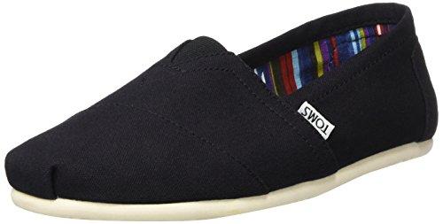 TOMS Men's Alpargata Canvas Black Ankle-High Flat Shoe - 11.5M
