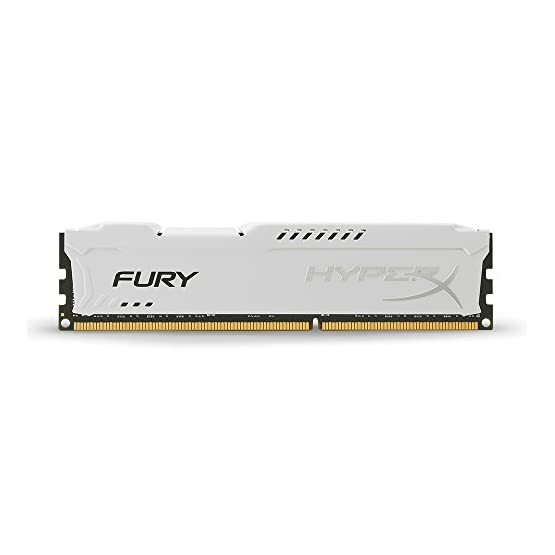 Kingston HyperX FURY 16GB Kit (2x8GB) 1866MHz DDR3 CL10 DIMM - White (HX318C10FWK2/16) 41 RWbZPQIL. SS555