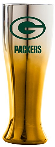 Duck House NFL Green Bay Packers 16oz Glass Glacier Pilsner with Two-Color Finish