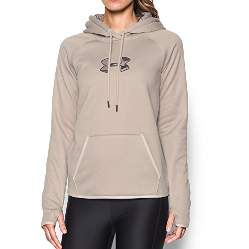 Under Armour Women's Icon Caliber Hoodie, Oatmeal Heather/Ma