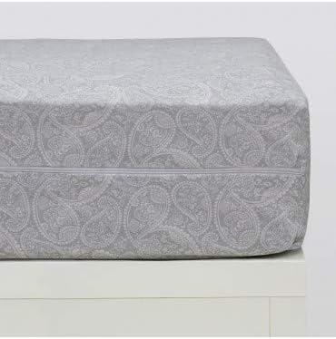 10XDIEZ Funda colchón Estampada Cashmere Gris - Medidas Protector ...