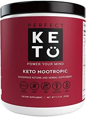 Perfect Keto Nootropic Brain Supplement: Best as Nootropics Powder Booster Supplements to Support Memory, Focus, Energy Peak. Ginkgo, Alpha GPC. Mental Clarity & Concentration Men & Women