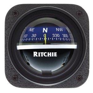 Ritchie Compass V-537B Explorer Compass - Bulkhead Mount - Blue Dial
