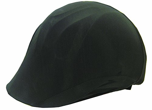 a Equestrian Riding Helmet Cover, Black ()