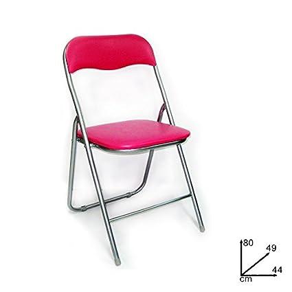 Silla plegable de color rosa ACOLCHADO INTERIOR EXTERIOR INTERIOR 369 674